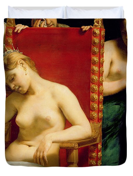 The Death Of Cleopatra  Duvet Cover by Guido Cagnacci