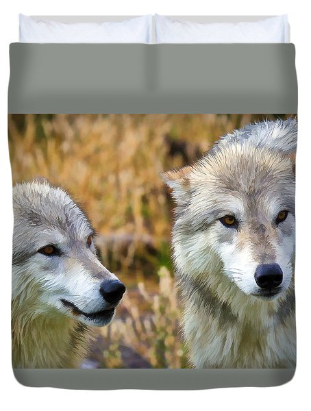 The Eyes Have It Duvet Cover by Athena Mckinzie