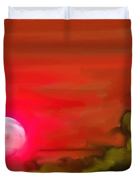 The Fire Next Time Duvet Cover by Lenore Senior