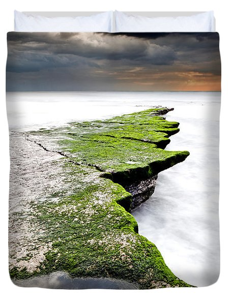 The Green Path Duvet Cover by Jorge Maia