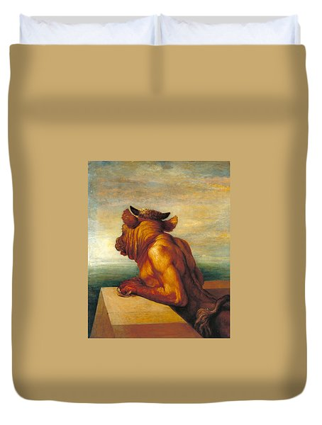 The Minotaur Duvet Cover by George Frederic Watts