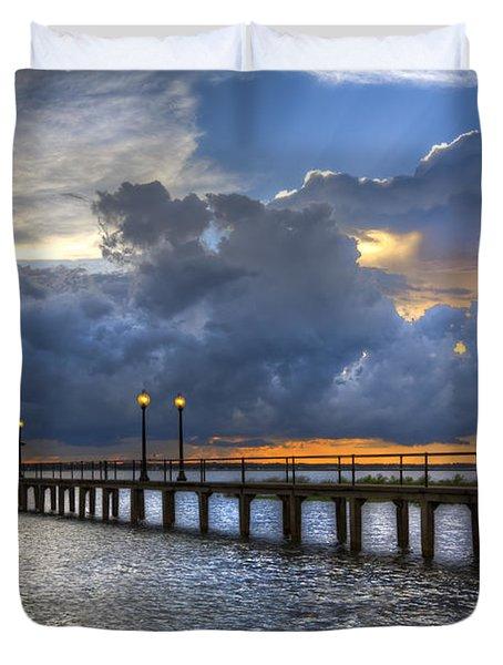 The Pier Duvet Cover by Debra and Dave Vanderlaan