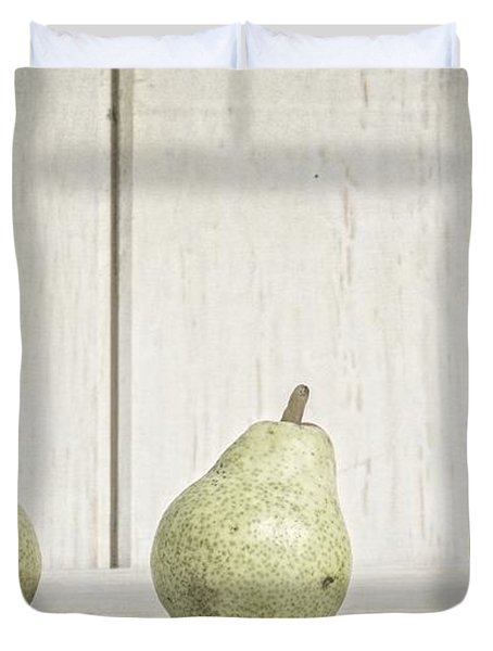 Three Pear Duvet Cover by Edward Fielding