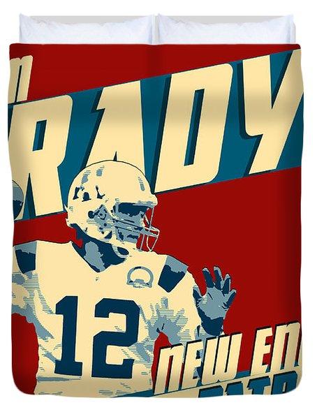 Tom Brady Duvet Cover by Taylan Apukovska