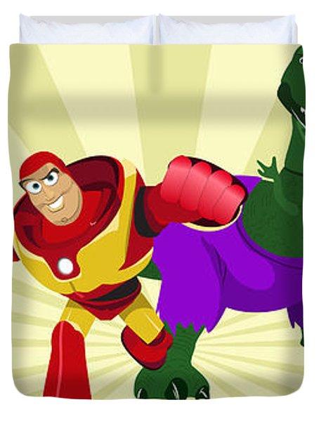 Toy Story Avengers Duvet Cover by Lisa Leeman