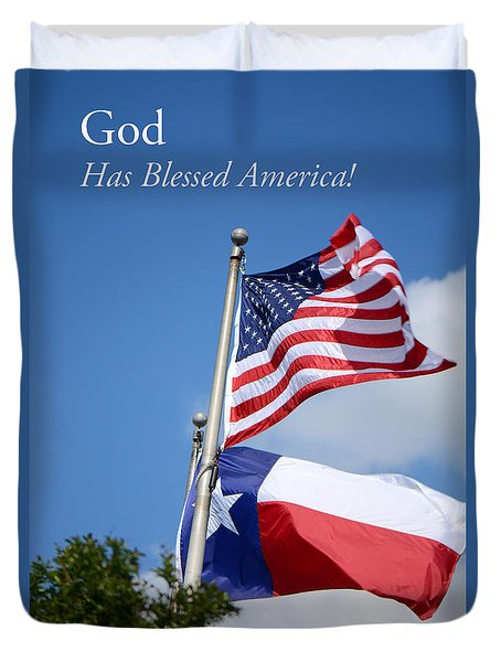 God Has Blessed America Duvet Cover by Connie Fox