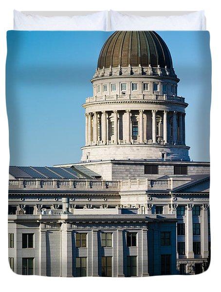 Utah State Capitol Building, Salt Lake Duvet Cover by Panoramic Images