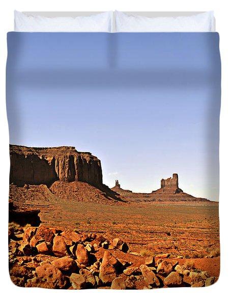 Utah's Iconic Monument Valley Duvet Cover by Christine Till