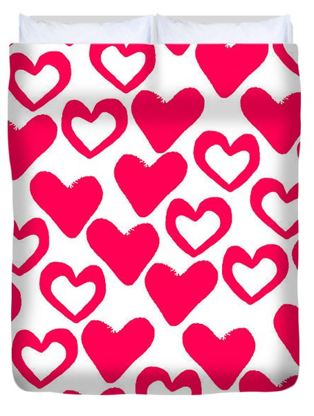 Valentines Day Card Duvet Cover by Louisa Knight