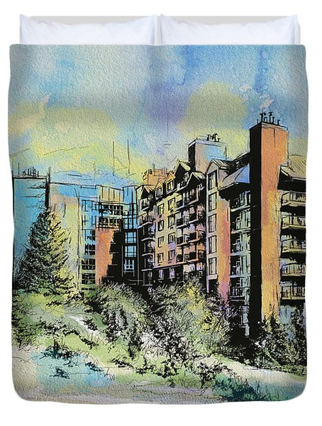 Victoria Art Duvet Cover by Catf