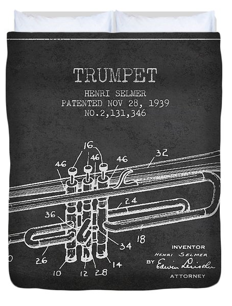 Vinatge Trumpet Patent From 1939 Duvet Cover by Aged Pixel