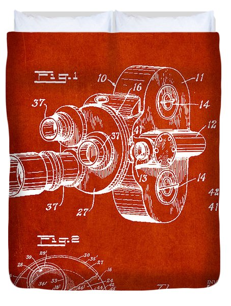 Vintage Camera Patent Drawing From 1938 Duvet Cover by Aged Pixel