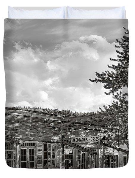 Virginia City Montana Ghost Town Duvet Cover by Daniel Hagerman