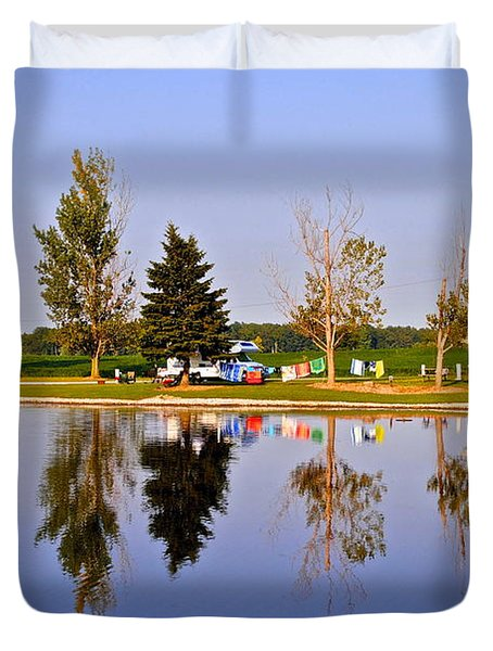Which Way is Up Duvet Cover by Frozen in Time Fine Art Photography