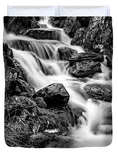 Winter Rapids Duvet Cover by Adrian Evans