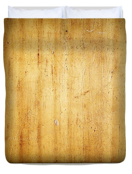 Wood texture Duvet Cover by Les Cunliffe