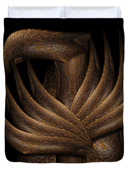 Wooden Bird Duvet Cover by Christopher Gaston