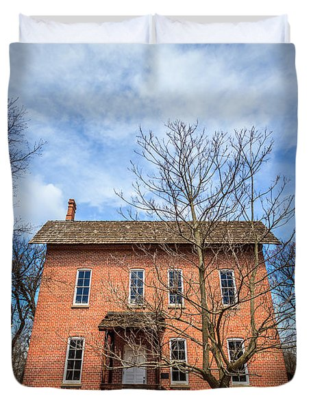 Wood's Grist Mill in Deep River County Park Duvet Cover by Paul Velgos