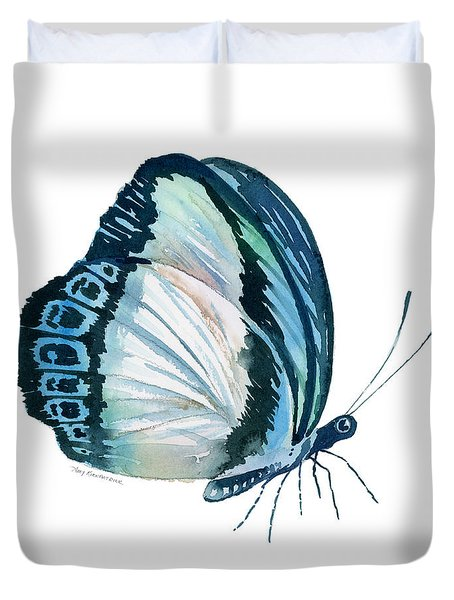 101 Perched Danis Danis Butterfly Duvet Cover by Amy Kirkpatrick