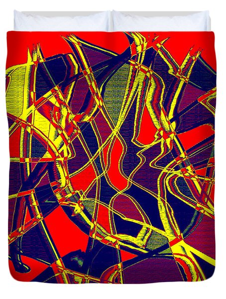 1010 Abstract Thought Duvet Cover by Chowdary V Arikatla