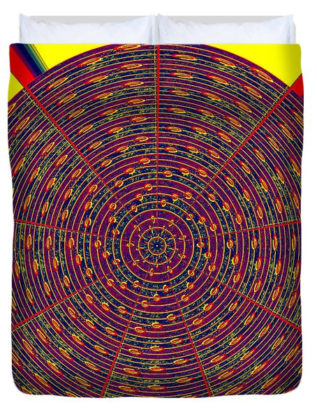 1020 Abstract Thought Duvet Cover by Chowdary V Arikatla