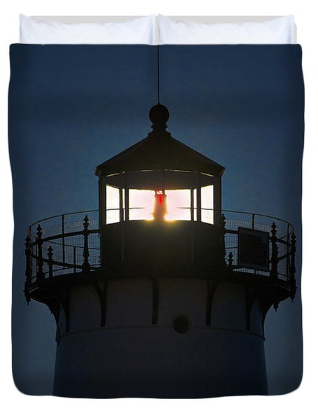 Edgartown Lighthouse Duvet Cover by John Greim