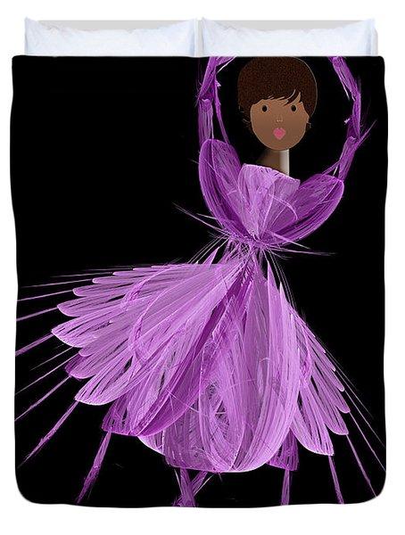 11 Purple Ballerina Duvet Cover by Andee Design
