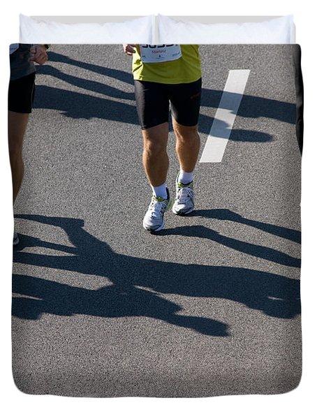 11th Poznan Marathon Duvet Cover by Michal Bednarek