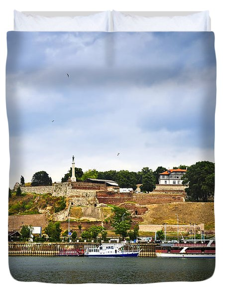 Kalemegdan fortress in Belgrade Duvet Cover by Elena Elisseeva