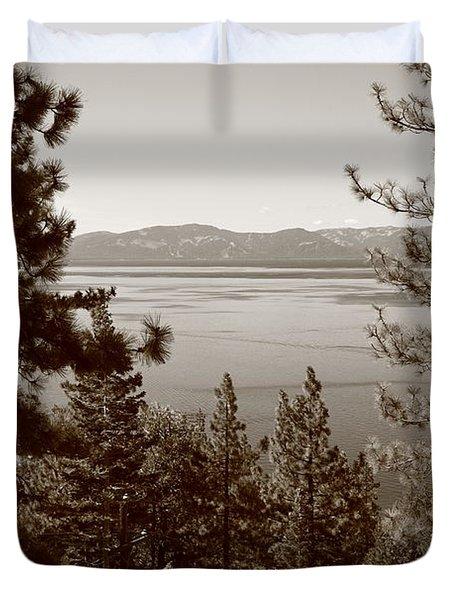 Lake Tahoe Duvet Cover by Frank Romeo