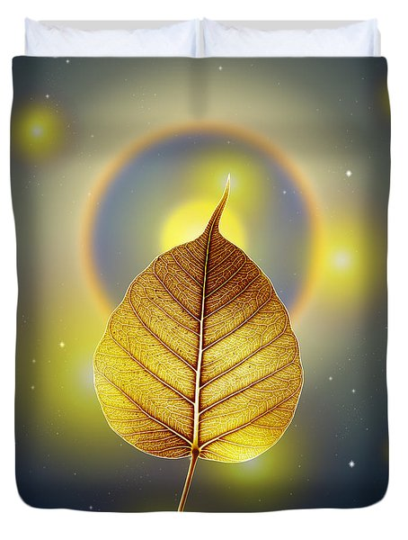 Pho Or Bodhi Duvet Cover by Atiketta Sangasaeng