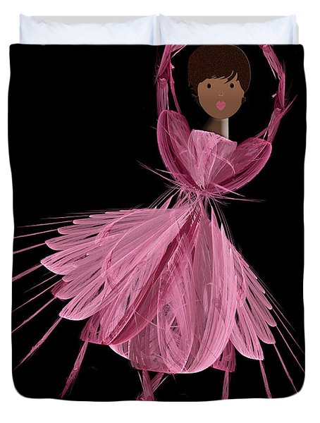 12 Pink Ballerina Duvet Cover by Andee Design