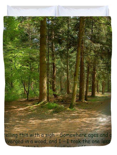 12- The Road Not Taken Duvet Cover by Joseph Keane