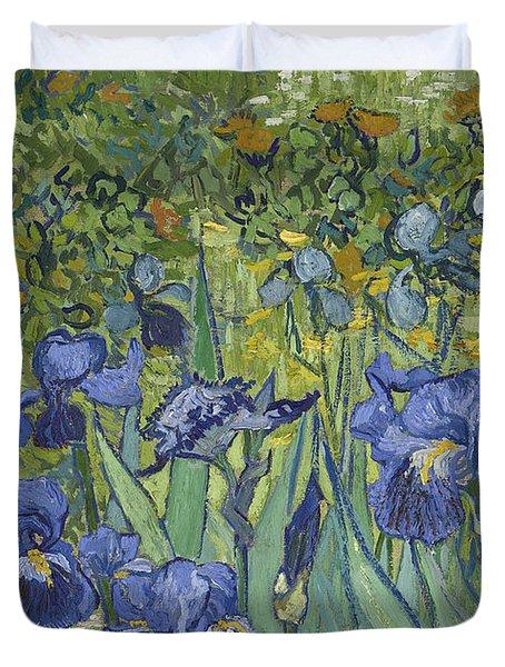 Irises Duvet Cover by Vincent Van Gogh