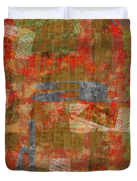 1352 Abstract Thought Duvet Cover by Chowdary V Arikatla