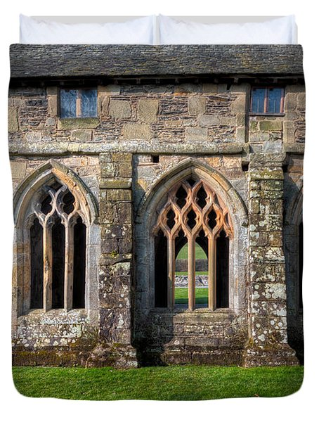 13th Century Abbey Duvet Cover by Adrian Evans