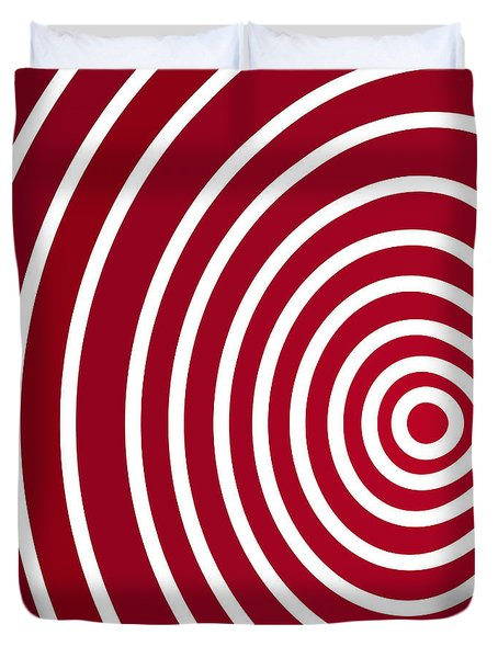 Red Abstract Duvet Cover by Frank Tschakert
