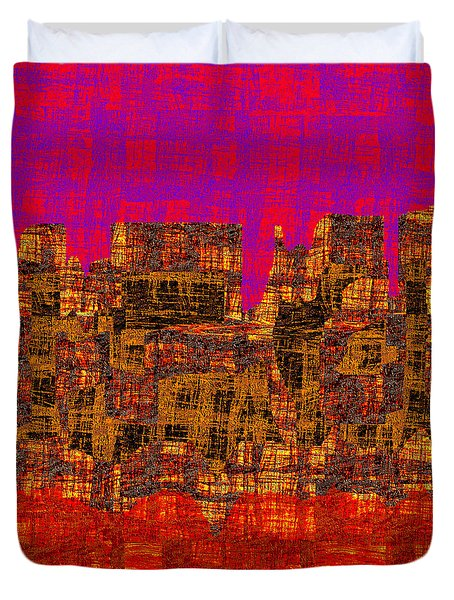 1457 Abstract Thought Duvet Cover by Chowdary V Arikatla