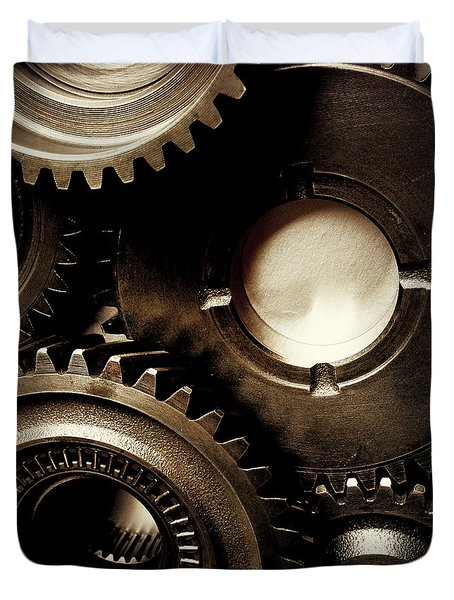 Cogs Duvet Cover by Les Cunliffe