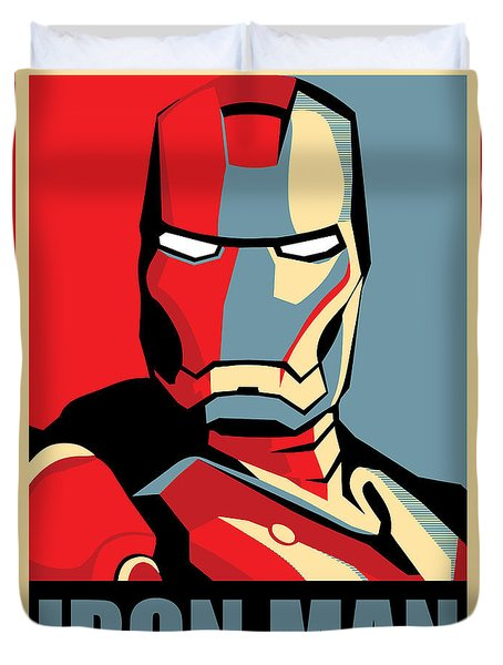 Iron Man Duvet Cover by Caio Caldas