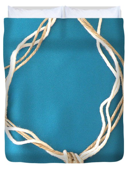 Aphrodite Urania Necklace Duvet Cover by Augusta Stylianou