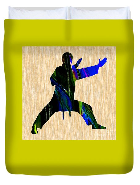 Martial Arts Karate Duvet Cover by Marvin Blaine