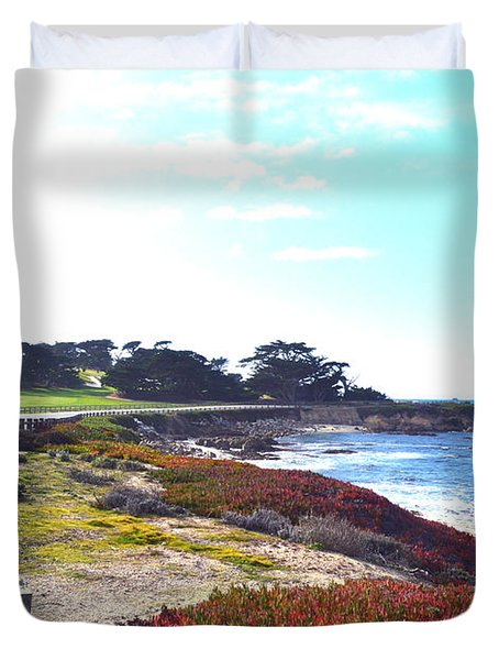 17 Mile Drive Shore Line II Duvet Cover by Barbara Snyder