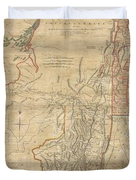 1768 Holland  Jeffreys Map Of New York And New Jersey  Duvet Cover by Paul Fearn