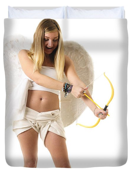 Cupid the god of desire Duvet Cover by Ilan Rosen