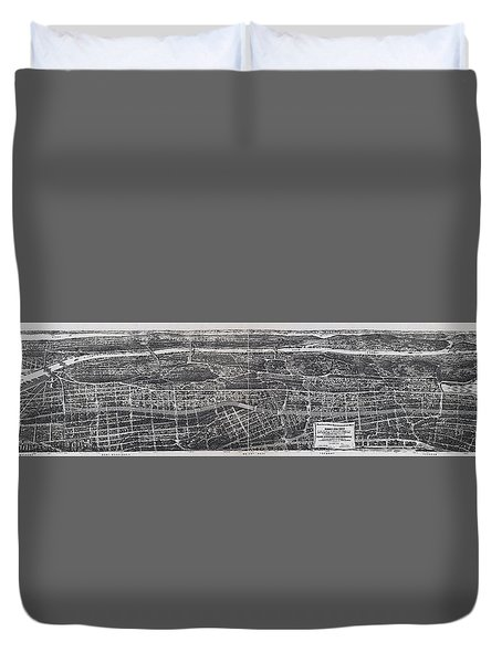 1897 Vintage Nyc Map Of The South Bronx Duvet Cover by Stephen Stookey