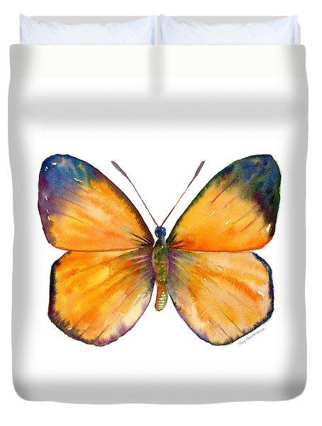 19 Delias Anuna Butterfly Duvet Cover by Amy Kirkpatrick