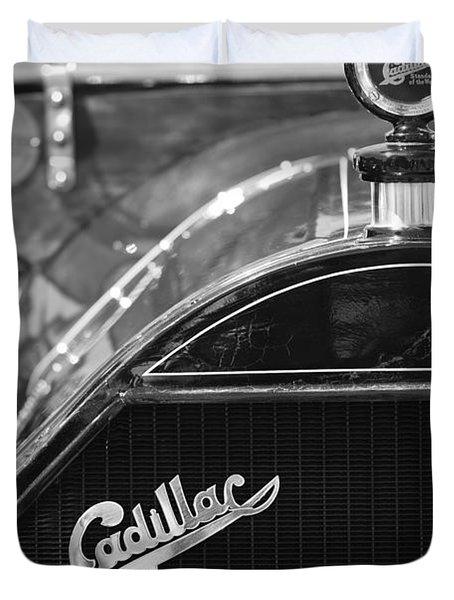 1911 Cadillac Roadster Grille and Hood Ornament Duvet Cover by Jill Reger