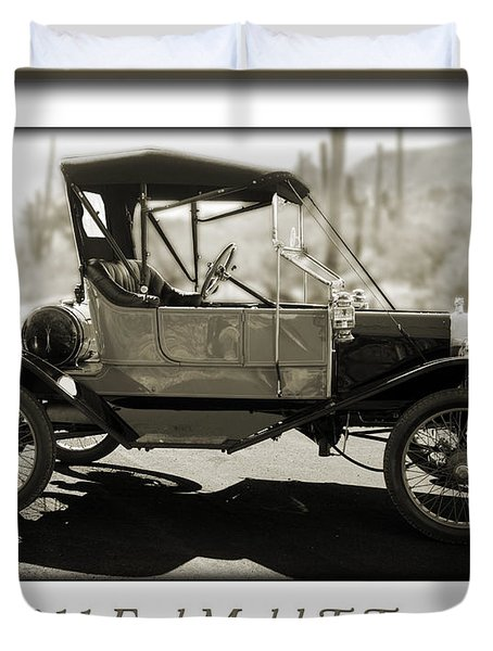 1911 Ford Model T Torpedo Duvet Cover by Jill Reger