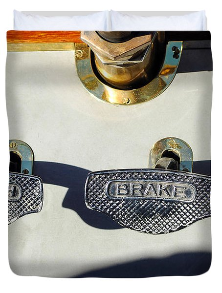 1911 Pope Hartford Model W 4 Cylinder 50 HP 7 Passenger Brake-Clutch Pedals Duvet Cover by Jill Reger